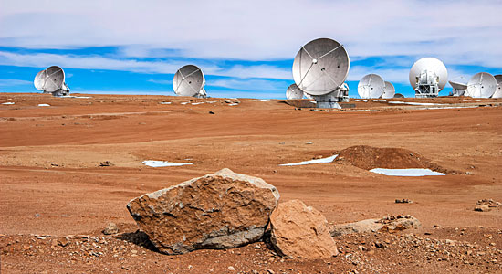 ALMA atop the Chajnantor Plateau