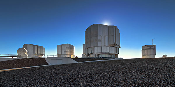 Very Large Telescope in daylight