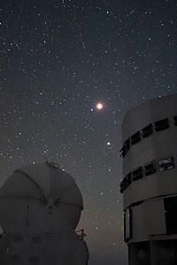Lunar Eclipse over the VLT