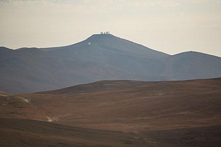 The VLT on top of Cerro Paranal