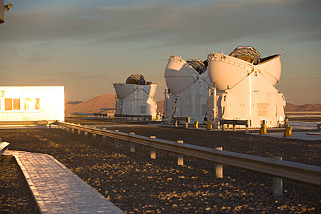 Three ATs at Paranal