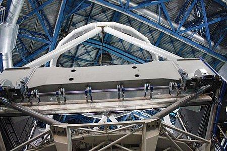 Unit Telescope of the VLT from inside
