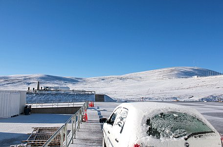 Snow on Paranal