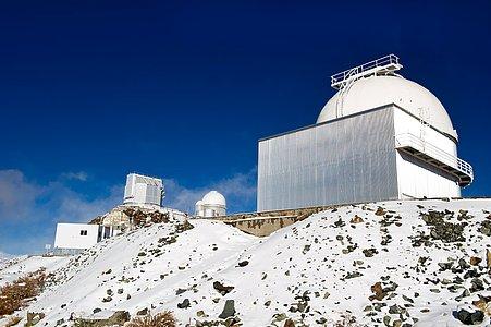 Three telescopes at La Silla