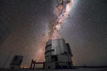 Milky Way over VLT