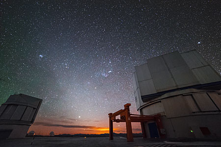 Starry sky at Cerro Paranal