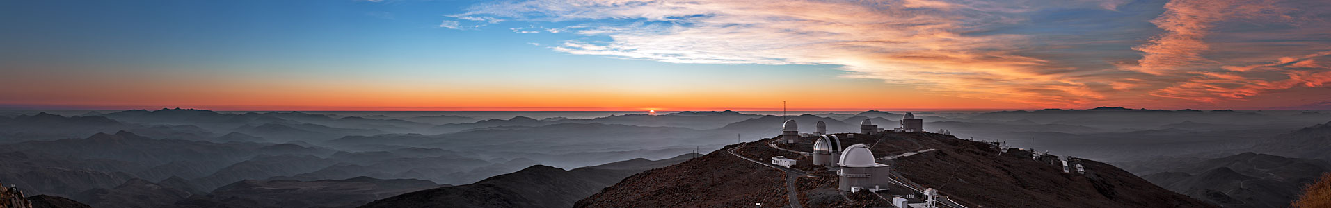 Sunset palette in the skies above La Silla