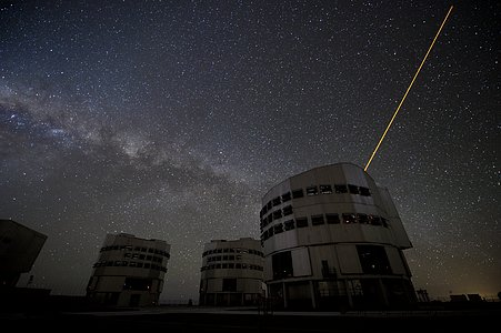 Laser guided stars