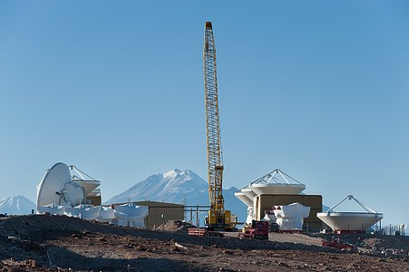 ALMA assembly site and Andes