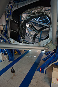 Inside UT2 at Paranal