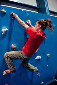Climbing wall at Paranal