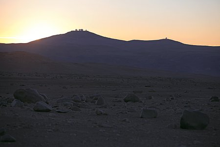 Paranal Observatory seen from the distance