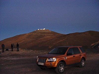 Land Rover commercial shooting at Paranal
