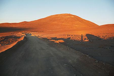Cerro Armazones at sunset