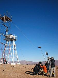 Filming on Cerro Amazones