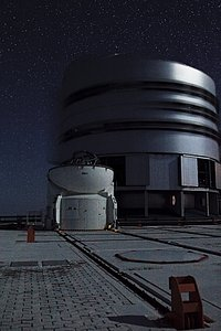 On the VLT Platform at Night