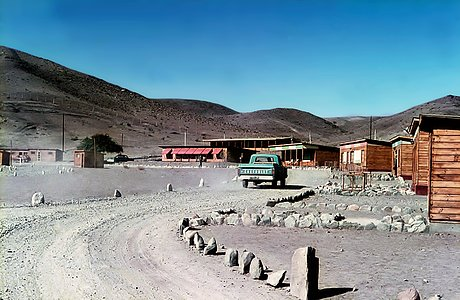 Pelicano plain, the entrance to La Silla, during the early days