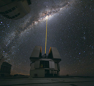 Ein Laserstrahl zum Zentrum der Milchstraße