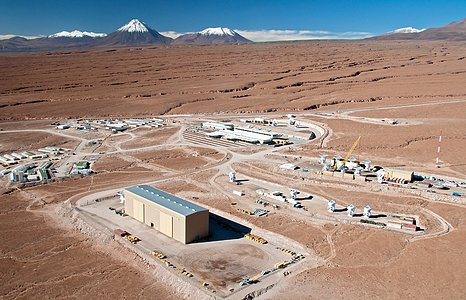 Flying above the ALMA Site: The Operations Support Facility