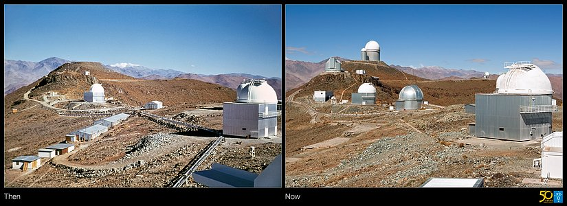 A Glimpse into the Past — Then and Now at La Silla Observatory