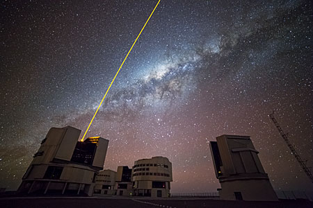 La estrella artificial del VLT
