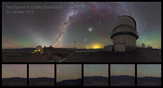 Midsummer Night Brings Sprites — Rare phenomenon caught on camera at La Silla
