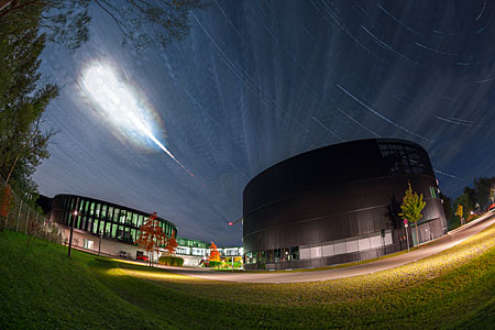 Total Lunar Eclipse over ESO Headquarters