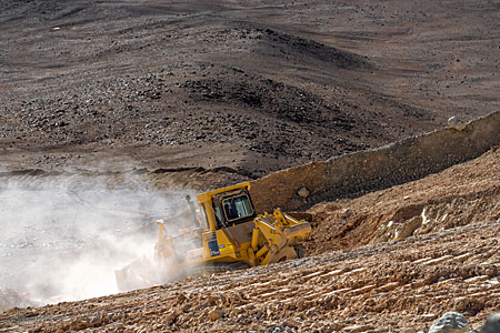 Bulldozer on Cerro Armazones