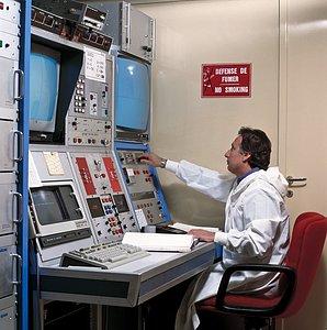 Schmidt telescope control room at La Silla