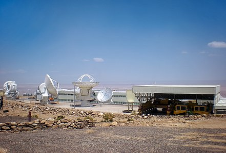 ALMA antennas eager to reach the Chajnantor plateau