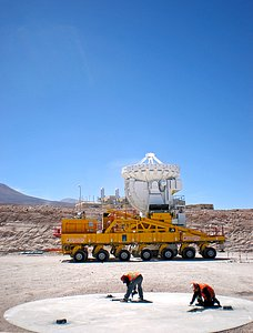 ALMA antenna moving home