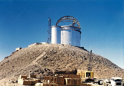 ESO 3.6-metre telescope under construction