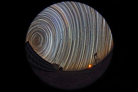 Star trails at Cerro Armazones