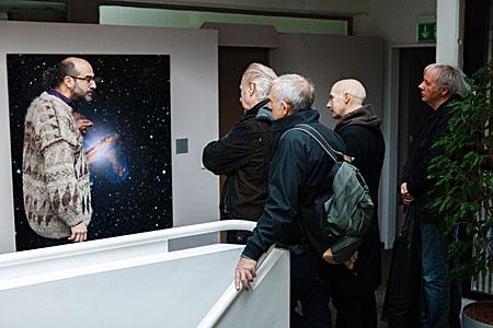 Ultravox visit ESO's Headquarters