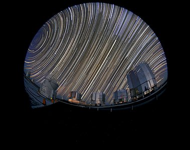 Star trails at Paranal observatory