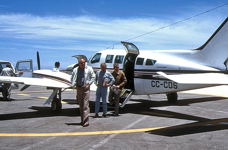 Engineers Arriving at Pelican airstrip close to La Silla