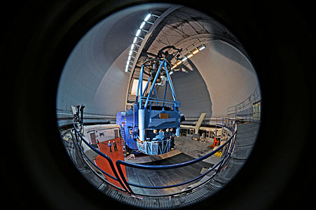 ESO 3.6-metre telescope fish-eye view