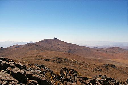 La Silla from Cerro Vizcachas
