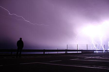 Lightning over Paranal
