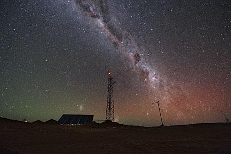Cerro Armazones at night