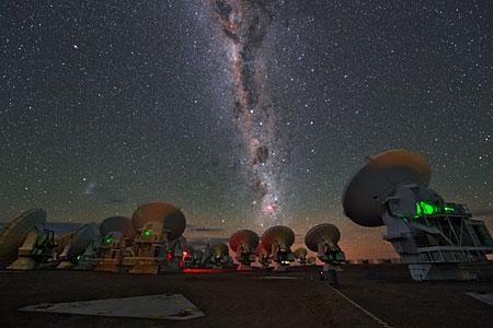 Vía Láctea sobre ALMA