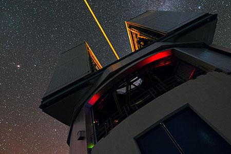 Laser of the VLT in UHD