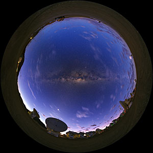 Fish-eye View of ALMA