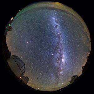 Milky Way Arcs La Silla