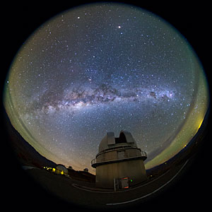 Milky Way Revealed Above La Silla Night Sky
