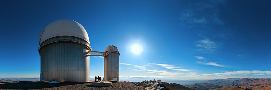 Behind the ESO 3.6-metre telescope