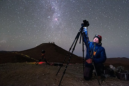 Christoph tests UHD equipment at Paranal