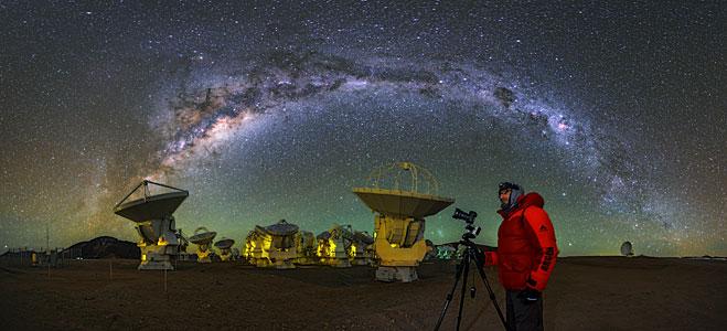 Milky Way Arcs Over ALMA