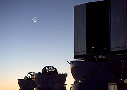 Moon and Venus seen from ESO's Paranal Observatory