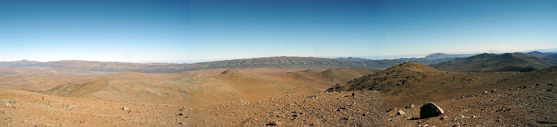 Panorama on Cerro Ventarrones, Chile